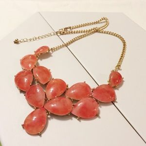 Deep Orange and Gold Centerpiece Necklace